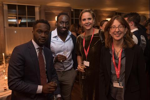 Stars Arnold Oceng and Yaw Basoah with Letters From Baghdad directors Sabine Krayenbühl and Zeva Oelbaum